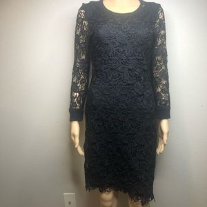 NWOT Aritzia Black Lace Eyelet Mini Dress